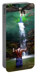 Portable Battery Charger featuring the photograph Praying To The Spirits by Al Bourassa