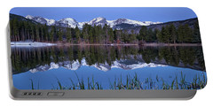 Pre Dawn Image Of The Continental Divide And A Sprague Lake Refl Portable Battery Charger