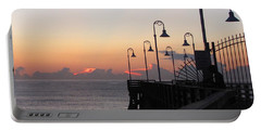 Pre-sunrise On Daytona Beach Pier   Portable Battery Charger