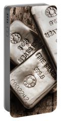 Precious Metal Art Portable Battery Charger