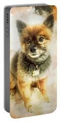Precious Pomeranian Portable Battery Charger by Tina LeCour