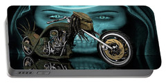 Portable Battery Charger featuring the digital art Predator Chopper by Louis Ferreira