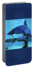 Portable Battery Charger featuring the painting Predator by Donald J Ryker III
