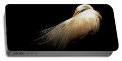Preening Egret Portable Battery Charger