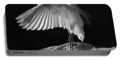 Preening Great Egret By H H Photography Of Florida Portable Battery Charger by HH Photography of Florida