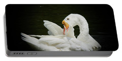 Portable Battery Charger featuring the photograph Preening by Lisa L Silva