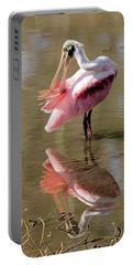 Preening Spoonbill Portable Battery Charger