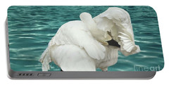 Preening Trumpeter Swan  Portable Battery Charger