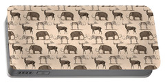 Prehistoric Animals Portable Battery Charger by Antique Images