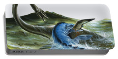 Prehistoric Creatures Portable Battery Charger by David Nockels