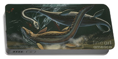 Prehistoric Marine Animals, Underwater View Portable Battery Charger by American School