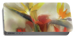 Portable Battery Charger featuring the digital art Prelude To Autumn by Gina Harrison