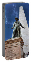 Prescott Statue On Bunker Hill Portable Battery Charger