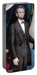 President Abraham Lincoln In Color Portable Battery Charger