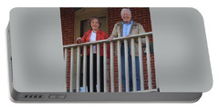 President And Mrs Carter On Plains Inn Balcony Portable Battery Charger