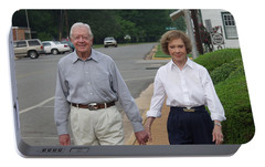 Portable Battery Charger featuring the photograph President And Mrs. Jimmy Carter by Jerry Battle