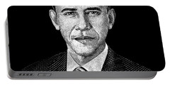 President Barack Obama Graphic Portable Battery Charger by War Is Hell Store