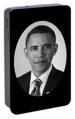 President Barack Obama Portable Battery Charger by War Is Hell Store
