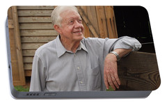 Portable Battery Charger featuring the photograph President Carter At His Boyhood Farm by Jerry Battle