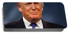 President Donald John Trump Portrait Portable Battery Charger