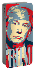 Portable Battery Charger featuring the painting President Donald Trump Hope Poster 2 by Celestial Images