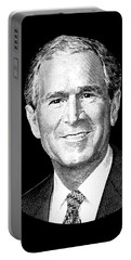 President George W. Bush Graphic Portable Battery Charger