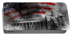 Portable Battery Charger featuring the painting President Lincoln  by Gull G