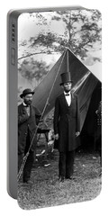 President Lincoln Meets With Generals After Victory At Antietam Portable Battery Charger