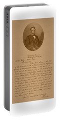 President Lincoln's Letter To Mrs. Bixby Portable Battery Charger
