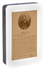 President Lincoln's Letter To Mrs. Bixby Portable Battery Charger by War Is Hell Store