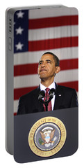 President Obama Portable Battery Charger by War Is Hell Store
