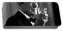 President Reagan Making A Toast Portable Battery Charger by War Is Hell Store