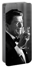 President Reagan Making A Toast Portable Battery Charger