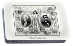 Presidents Washington And Lincoln Portable Battery Charger by War Is Hell Store