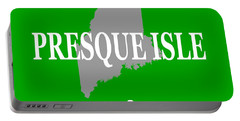 Portable Battery Charger featuring the photograph Presque Isle Maine State City And Town Pride  by Keith Webber Jr