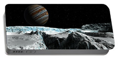 Portable Battery Charger featuring the digital art Pressure Ridge On Europa by David Robinson