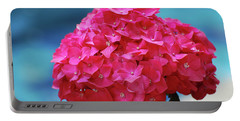 Pretty Blooming Pink Hydrangea Flowers Portable Battery Charger