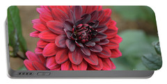 Pretty Blooming Red Dahlia Flower Blossom Portable Battery Charger