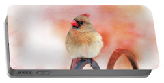 Pretty Cardinal Portable Battery Charger by Trina Ansel