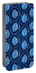 Pretty Decorative Blue Leaves Pattern Portable Battery Charger