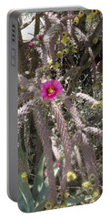 Flower Is Pretty In Pink Cactus Portable Battery Charger