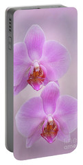 Pretty Light Pink Phalaenopsis Orchids V2 Portable Battery Charger