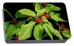 Portable Battery Charger featuring the photograph Pretty Little Red Berries by Lois Bryan