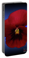 Portable Battery Charger featuring the photograph Pretty Pansy by Donna Brown