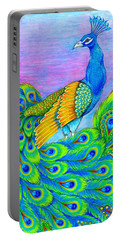 Pretty Peacock Portable Battery Charger