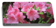 Pretty Pink Azalea Blossoms Portable Battery Charger