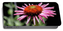 Pretty Pink Coneflower Portable Battery Charger