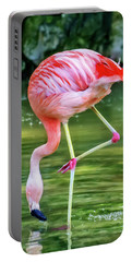 Pretty Pink Flamingo Portable Battery Charger