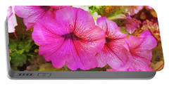 Pretty Pink Petunias Portable Battery Charger