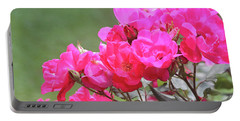 Pretty Pink Roses Portable Battery Charger